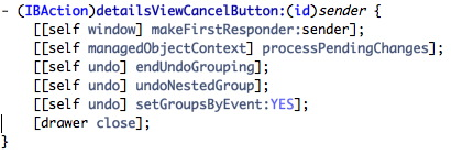 cancelButton method