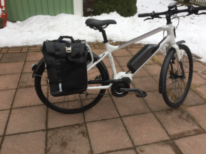M.01 with panniers outside.