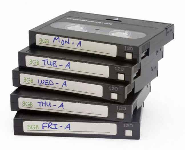 Backup tapes.